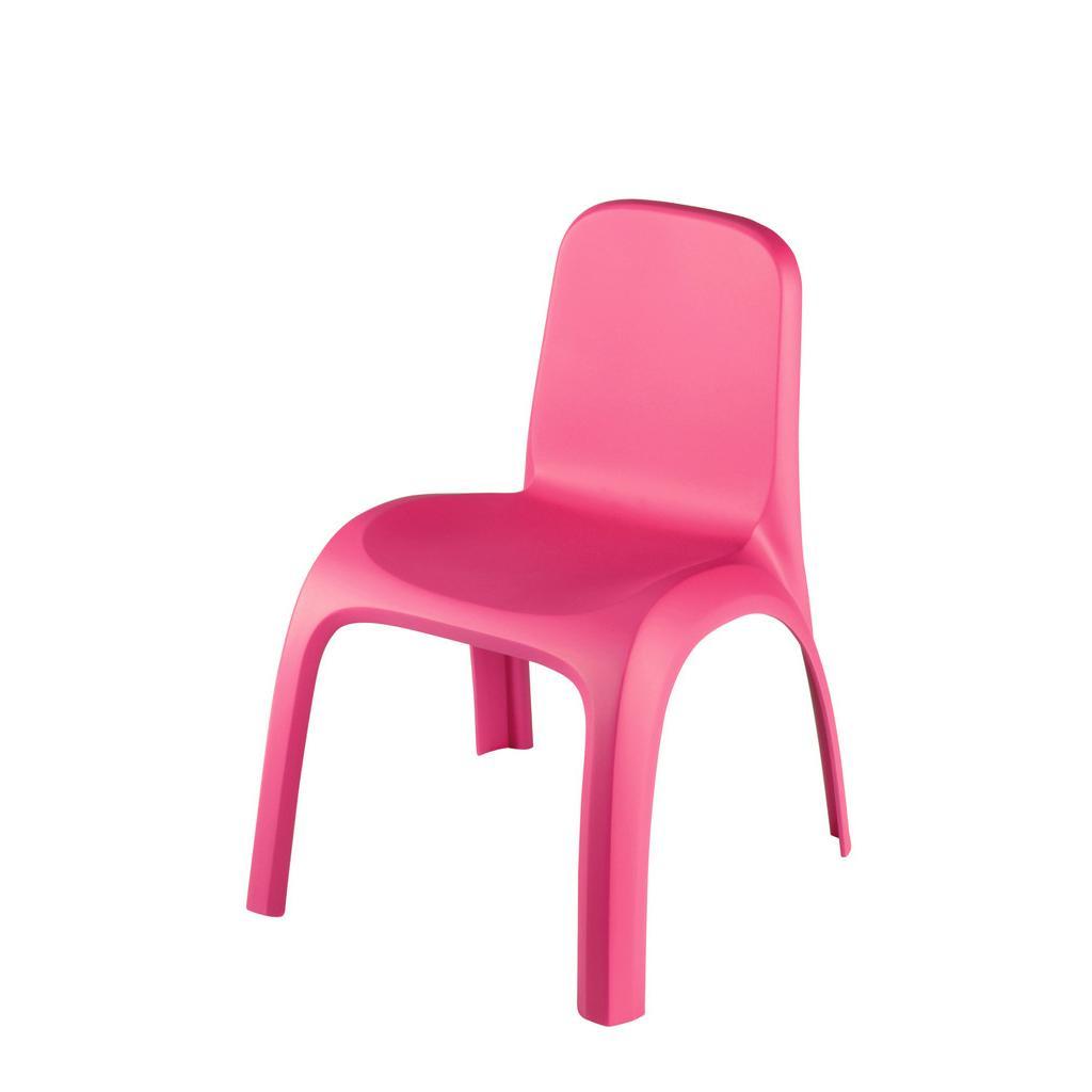 Detská Plastová stolička Ružová