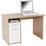 Schreibtisch Palermo - Weiß/Sonoma Eiche, MODERN, Holzwerkstoff (110/74/60cm)