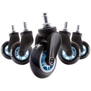 Drehstuhlrolle DX Racer D: 7,5cm Blau-Schwarz - Blau/Schwarz, MODERN, Kunststoff/Metall (7,5cm) - Dxracer