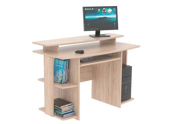 Písací Stôl David - farby dubu, Moderný, kompozitné drevo (118/82/60cm)