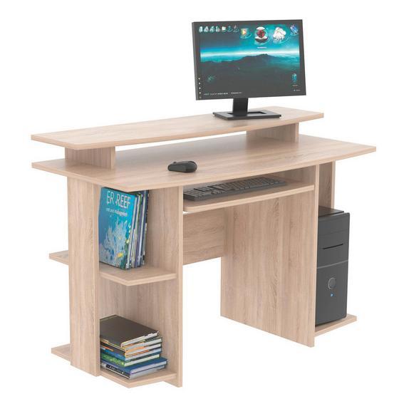Számítógépasztal David    *top Ár* - Tölgyfa, modern, Faalapú anyag (118/82/60cm)