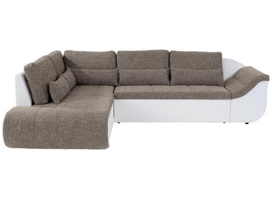 Wohnlandschaft In L-Form Carisma 210x300cm - Schwarz/Braun, MODERN, Textil (210/300cm) - Ombra