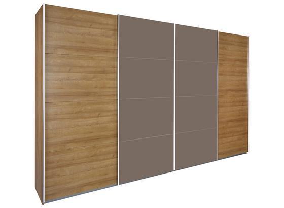 Skříň S Posuvnými Dveřmi Bensheim 316x211cm - barvy dubu, Moderní, kompozitní dřevo (316/211/62cm) - James Wood