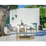 Sada Na Balkon Lissabon - hnědá/béžová, Basics, kov/textilie - Modern Living