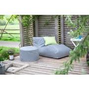 Outdoorsitzsack Wave B: 70 cm Hellblau - Hellgrau, Basics, Kunststoff (70/65/125cm) - Ambia Garden