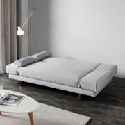 Pohovka Faith - svetlosivá, Moderný, drevo/textil (186/73/83cm) - Modern Living