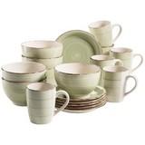 Frühstücksset 18-Tlg Lumaca - Grün, Basics, Keramik (35/31/36cm)