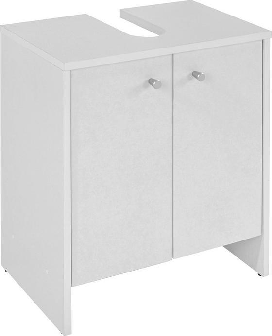 Waschbeckenunterschrank Klassik *ph* - Weiß, KONVENTIONELL (50/56/30cm)