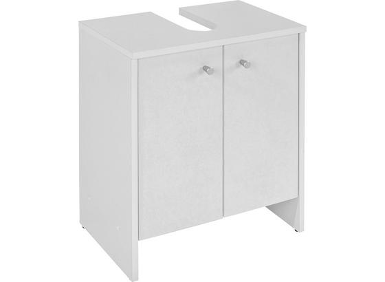 Waschbeckenunterschrank Stehend Klassik B: 50cm - Weiß, KONVENTIONELL (50/56/30cm)