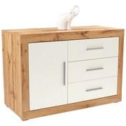 Komoda Frame - bílá/barvy dubu, Konvenční, dřevěný materiál (122/75/42cm)