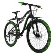 Mountainbike Mtb Fully 26'' Crusher 286m - Schwarz/Grün, Basics, Metall (180/70/80cm)