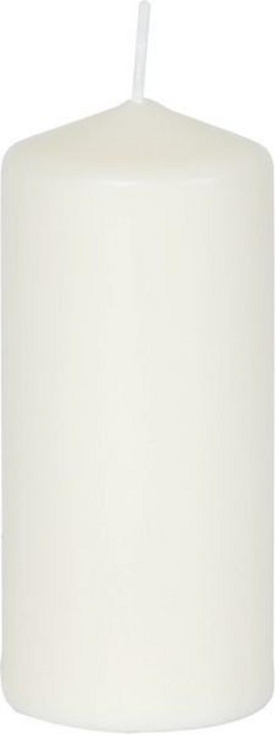 Stumpenkerze Ewald 29 cm - Creme/Weiß, KONVENTIONELL (10/29cm) - Ombra