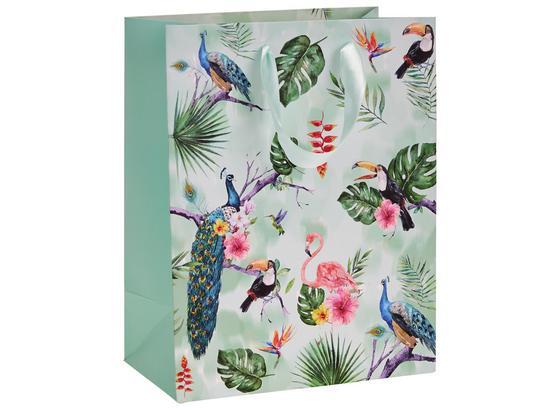 Geschenktasche Tropical - Grün, Design, Karton (18/10/23cm)