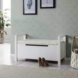 Šatní Lavice Len - bílá, Moderní, dřevěný materiál (87/48/38cm) - Modern Living