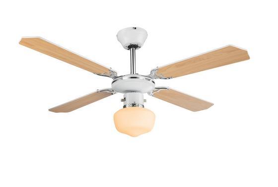 Mennyezeti Lámpa 03300 - bükk színű/fehér, üveg/fa (107/41,5cm)