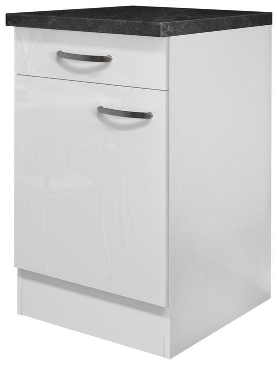 Kuchyňská Spodní Skříňka Alba  Us50 - bílá, Moderní, dřevěný materiál (50/85/57cm)