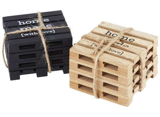 Sada Podložiek Connor - hnedá/čierna, Moderný, kompozitné drevo (10/10/6cm)