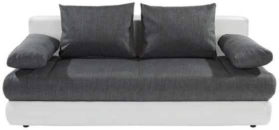 Kanapéágy Clipso - fehér/szürke, modern, textil (212/93/90cm) - OMBRA