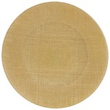Platzteller Donna D: 32cm - Goldfarben, MODERN, Glas (32cm) - Luca Bessoni