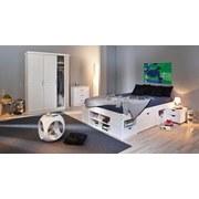 Bettanlage inkl. Nachtkästchen +stauraum 180x200 Till, Weiß - Weiß, KONVENTIONELL, Holz (180/200cm) - Carryhome