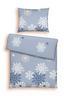Bettwäsche Winterland - Weiß/Hellblau, KONVENTIONELL, Textil - Ombra