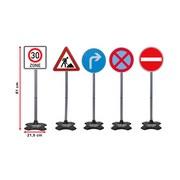 Verkehrszeichen-Set Grand B 5-teilig - Multicolor, Basics, Kunststoff (25/25/81cm)