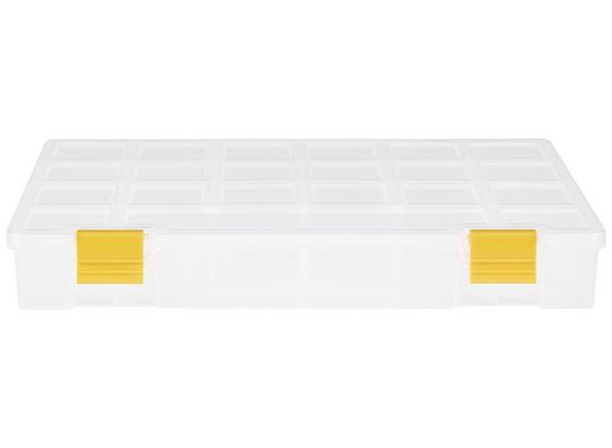 Sortimentskasten Finn - Transparent/Gelb, KONVENTIONELL, Kunststoff (27,6/20,3/4,2cm) - Homezone