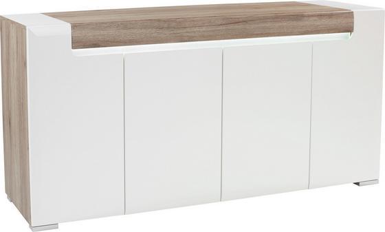 Kommode Toronto Tok11 - Eichefarben/Weiß, MODERN, Holzwerkstoff (190/84,5/42,2cm) - Ombra