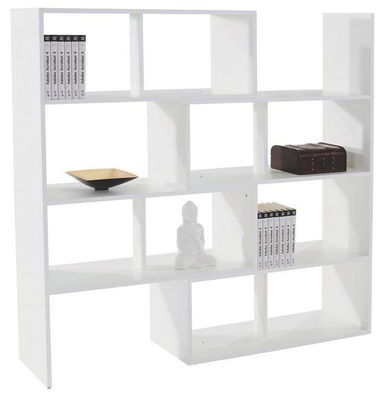 Regál Erich - biela, Moderný, drevený materiál (154/146,5/33,4cm)