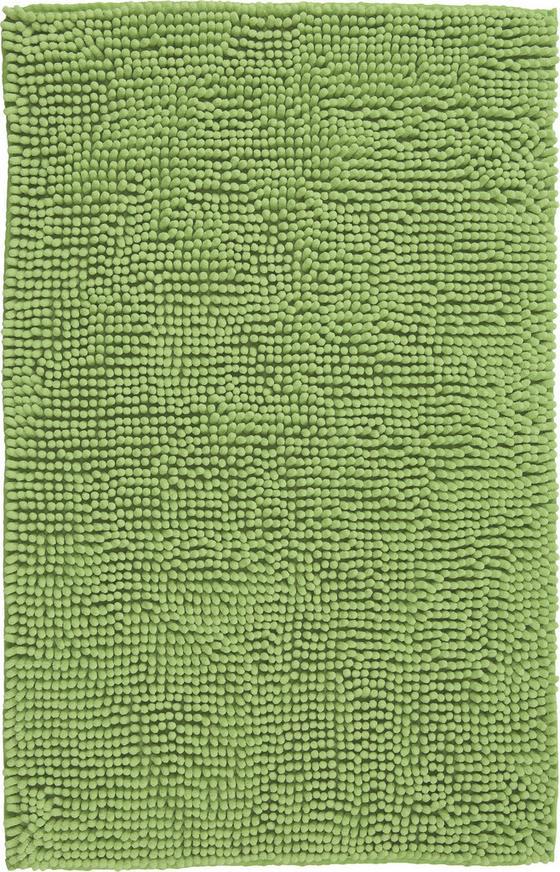 Fürdőszobaszőnyeg Anke - zöld, modern, textil (60/90cm) - LUCA BESSONI