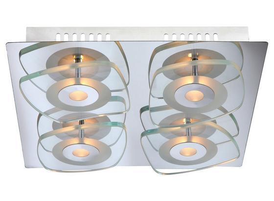 LED-Deckenleuchte Zarima - Klar/Chromfarben, MODERN, Glas/Metall (31/31/6,5cm)