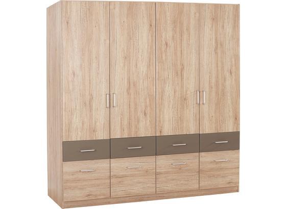 Šatná Skriňa Aalen-extra - farby dubu/sivá, Konvenčný, kompozitné drevo (181/197/54cm)
