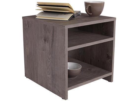 Odkladací Stolík Luca Lct01 - farby dubu, Moderný, kompozitné drevo (40/40/37cm)