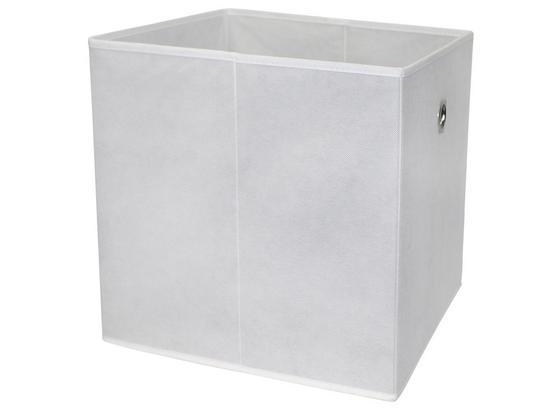 Skladací Box Cubi - biela, Moderný, kompozitné drevo/textil (32/32/32cm)