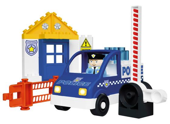 Bausteine Unico Plus Polizeiwagen - Blau/Weiß, Kunststoff - Unico Plus