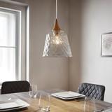 Závěsné Svítidlo Liva - průhledná, Moderní, kov/sklo (23/120cm) - Modern Living