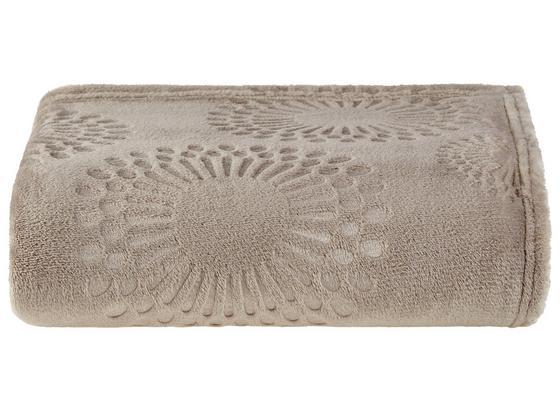 Kuscheldecke Flora - Taupe, MODERN, Textil (140/190cm) - Luca Bessoni