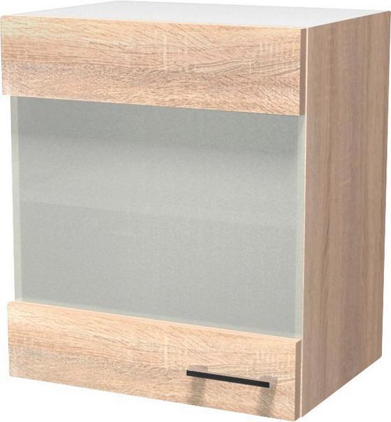 Horná Kuchynská Skrinka Samoa  Hg 50 - farby dubu/biela, Konvenčný, drevený materiál (50/54/32cm)