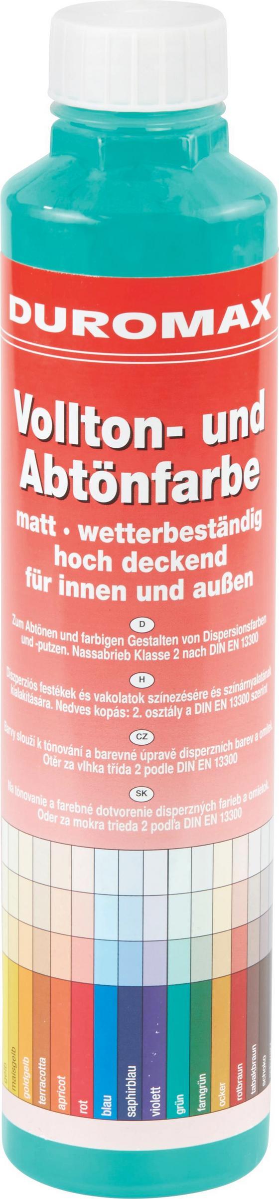 Abtönfarbe Grün Matt - KONVENTIONELL (0,75l)