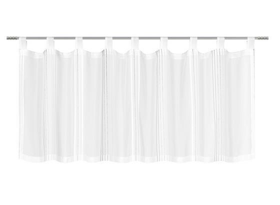 Záclona Krátká Louis - šedá/bílá, Konvenční, textil (50/145cm) - Mömax modern living