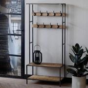 Garderobe Blazer B: 80 cm Braun/Schwarz - Schwarz/Braun, LIFESTYLE, Holz/Metall (80/180/40cm) - Livetastic
