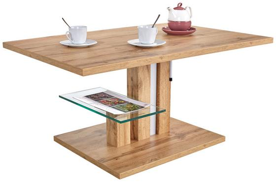 Konferenčný Stolík Bergamo - farby dubu, Moderný, kompozitné drevo (110/50-68/70cm)