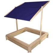 Sandkasten mit Dach - Blau/Naturfarben, MODERN, Holz/Kunststoff (120/120/120cm)