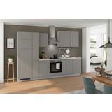 Küchenblock Turin 310 cm Arktisgrau/Pinie - Grau/Pinienfarben, LIFESTYLE, Holzwerkstoff (310cm) - Qcina