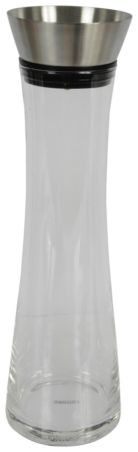 Wasserkaraffe Cuisine Elegance - Transparent/Alufarben, MODERN, Glas/Kunststoff (10/34,3cm)