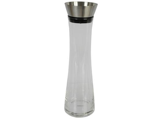 Wasserkaraffe Cuisine Elegance - Transparent/Schwarz, MODERN, Glas/Kunststoff (10/34,3cm)