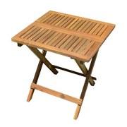 Gartentisch Klappbar Tulcan Akazienholz Massiv L 50 cm - Hellbraun, Basics, Holz (50/50/50cm)