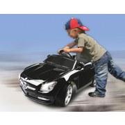 Kinderauto Ride-On Mercedes Slk Schwarz - Silberfarben/Schwarz, Basics, Kunststoff (110,5/63/44cm)