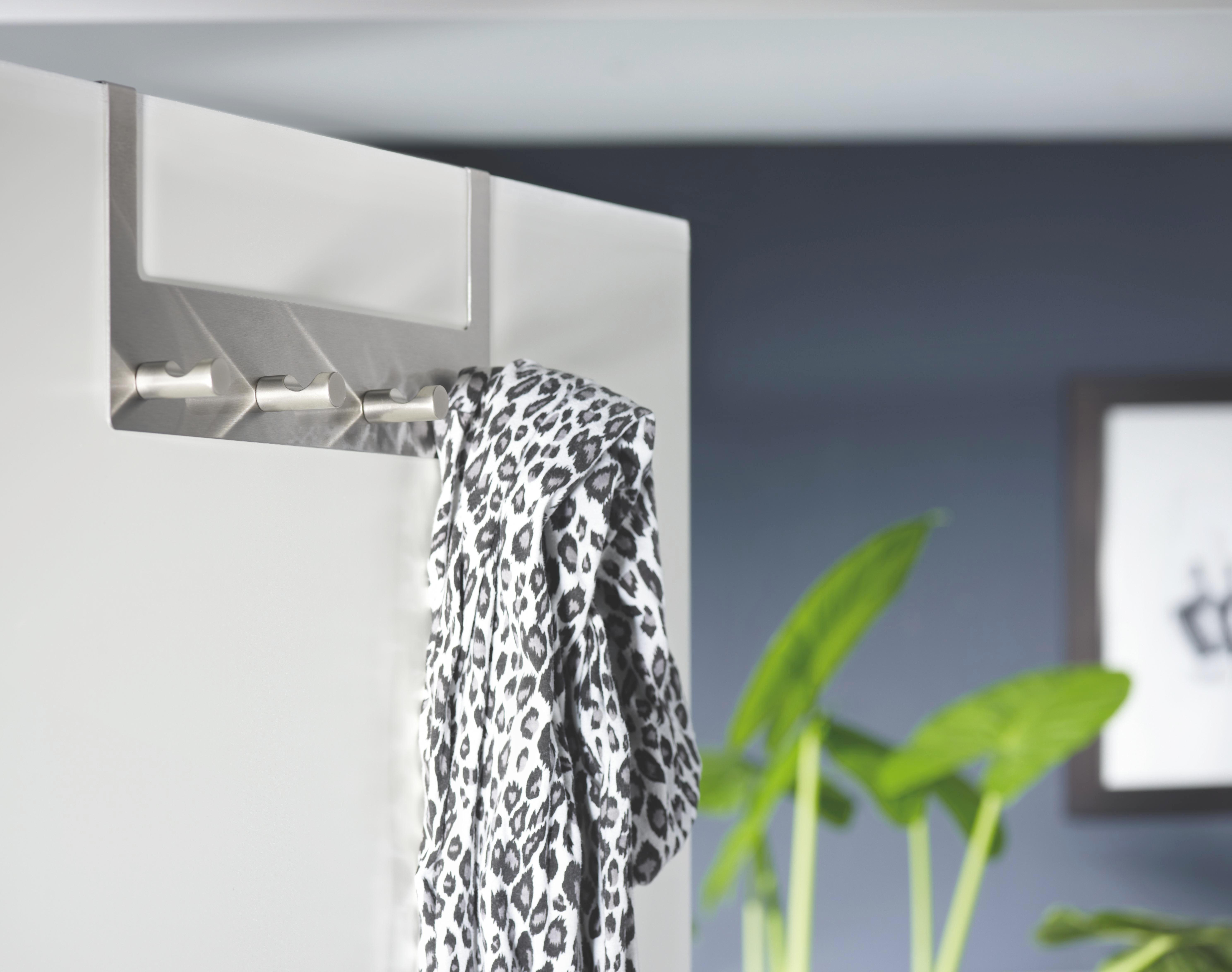 Türgarderobe Imma - Edelstahlfarben, Basics, Metall (32/11,5/4cm) - MÖMAX modern living