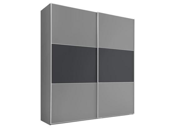 Schwebetürenschrank 225 cm Includo - Anthrazit/Weiß, MODERN, Holzwerkstoff (225/222/68cm)